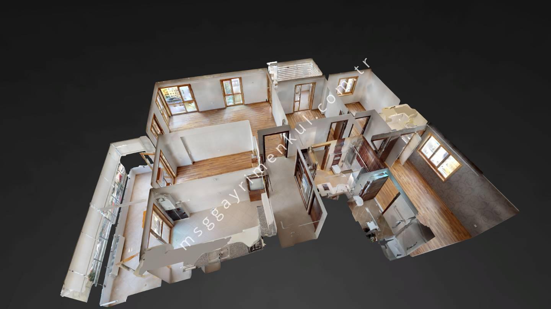 3D Çekim -Mustafa Kemal Mah. Kiralık 4+1 Daire